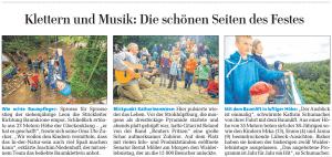 Lübecker Nachrichten Artikel Walderlebnistag 2013 Lübeck vom 03.09.2013